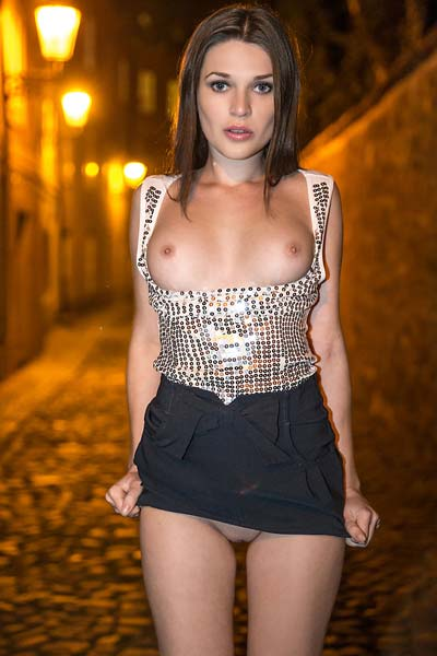 Model Serena in Night walk