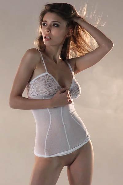 Model Milla in Beauty In The Clouds