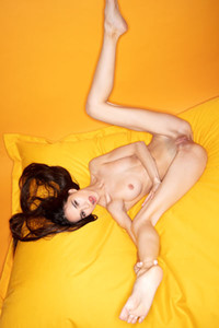 Model Leona Mia in Yellow Star
