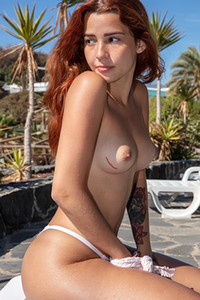 Model Agatha in Beauty By The Pool
